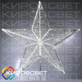 Звезда на макушку ели - объемная светодиодная фигура
