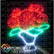 Букет роз - светодиодная плоская фигура