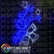 Ветвь ели с колокольчиками - светодиодная плоская фигура