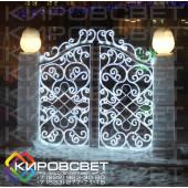Ворота - светодиодная конструкция