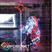 Дед Мороз - светодиодная плоская фигура
