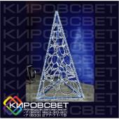 Елка-ТРЕХГРАННАЯ 3D - объемная светодиодная фигура