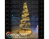 Золотая елочка 3D - объемная светодиодная фигура