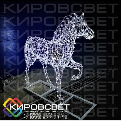 Лошадь - объемная светодиодная фигура