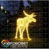 Лось - объемная светодиодная фигура