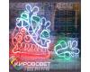 Мешок с подарками - светодиодная плоская фигура