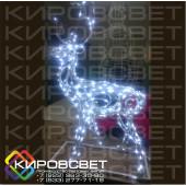 Олень ажурный - объемная светодиодная фигура