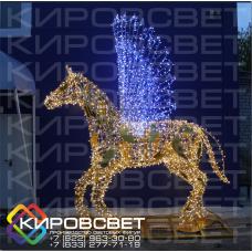 Пегас - объемная светодиодная фигура