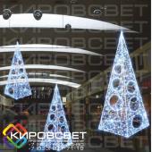 Елка-ПИРАМИДА 3D - объемная светодиодная фигура