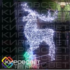 Северный олень - объемная светодиодная фигура