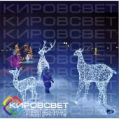 Семья оленей - объемная светодиодная композиция