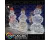 Снеговик-музыкант ажурный - объемная светодиодная фигура