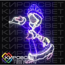 """""""Снегурка"""" - светодиодная плоская фигура"""