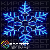 Снежинка - светодиодная плоская фигура