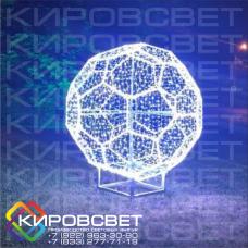 Мяч футбольный - объемная светодиодная фигура