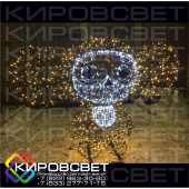 Чебурашка - объемная светодиодная фигура