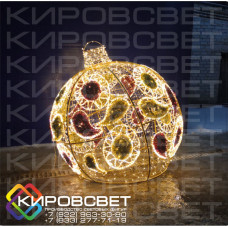 Шар Тульский пряник 3D - объемная светодиодная конструкция