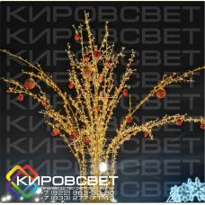Яблоня 3D - объемная светодиодная конструкция